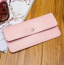 2016 new arrival fashion women wallets brand long wallet  solid genuine leather solid color high quality