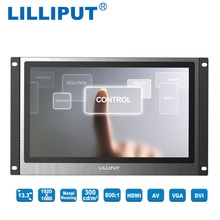 13.3 inch LED Displays Lilliput TK1330-NP/C/T Full HD Industrial Capacitive Touch Monitor with HDMI, VGA, DVI & A/V inputs,(China)