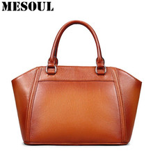 Luxury Handbag Women Bags Ladies Genuine Leather Business Bag Designer Handbags High Quality Purses Brown Tote Bag Bolsos Mujer