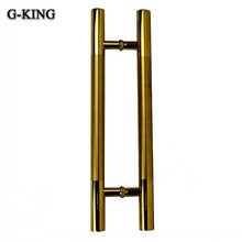 Promotion stainless steel door handle glass door handle hot door new titanium gold drawing handle 104