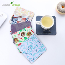 Home Table Cup Mat Lemorange Cloth Art Rubber Non-heat Decor Coffee Drink Placemat Tableware Coaster TQQ0059