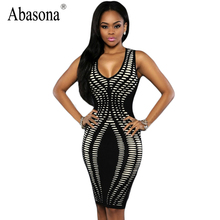 Spring 2017 Black Digital Gradient Printed Summer Sexy Dress White Dot Night Club Wear Bodycon Party Dresses Plus Size