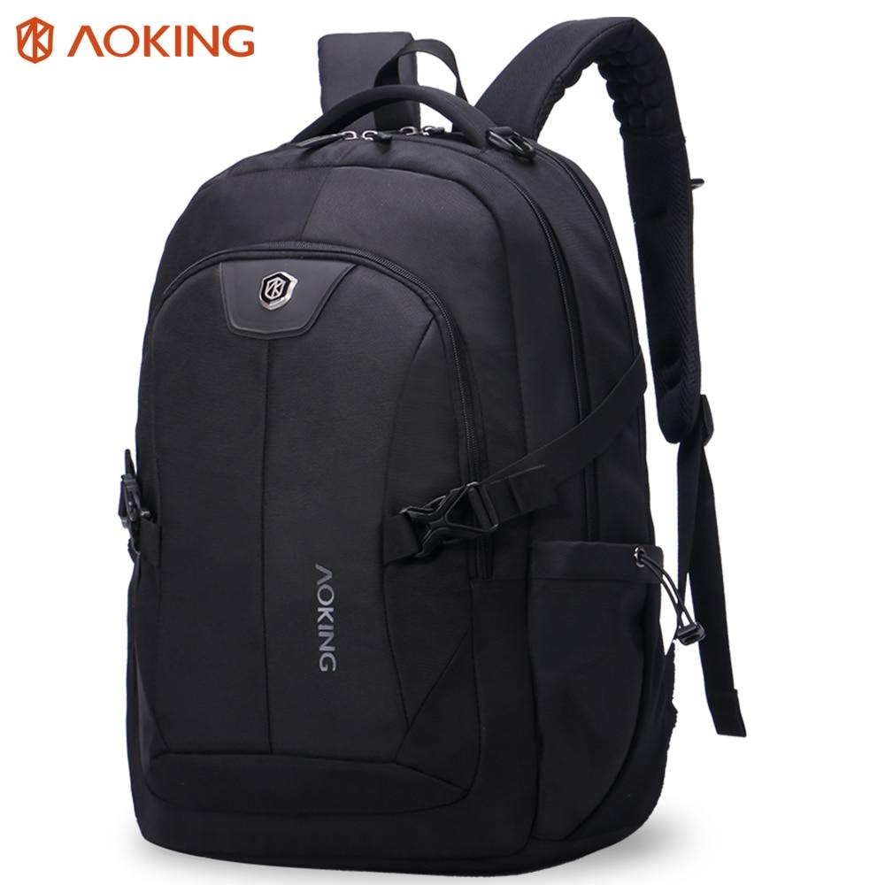 2017 Aoking New Classic Design Laptop Bag Backpack Men Large Capacity Nylon Compact Mens 14 inch Backpacks Unisex Women Bagpack<br>