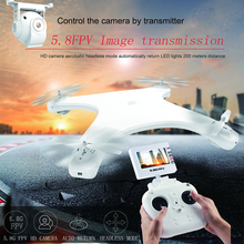 W606-5G 5.8G FPV RC Drone with HD Camera 720P RTF 2.4G 4CH 6Axis Gyro RC Quadcopter Built-in LCD Screen Radio Control