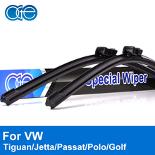Oge Wiper Blades For VW Jetta Passat Tiguan Golf Polo Touran Caddy 2005-2016 Windscreen Windshield Rubber Car Auto Accessories(China)