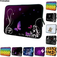 Notebook Sleeve Cover For Macbook Acer Asus HP Women Girls Computer Bag 10 15 14 17 12 13 15.6 17.3 Inch Viviration Zipper Pouch(China)