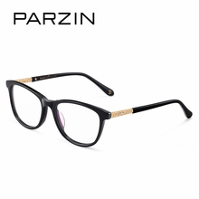 PARZIN Women Optical Myopia Frames With Clear Lens Brand Art Leg Correction Glasses Frame With Logo Quality Accessories(China)