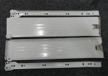 1Pair/LOT H150*D500mm Metal Box Side Drawer Slide Runners Kitchen Bath Furniture