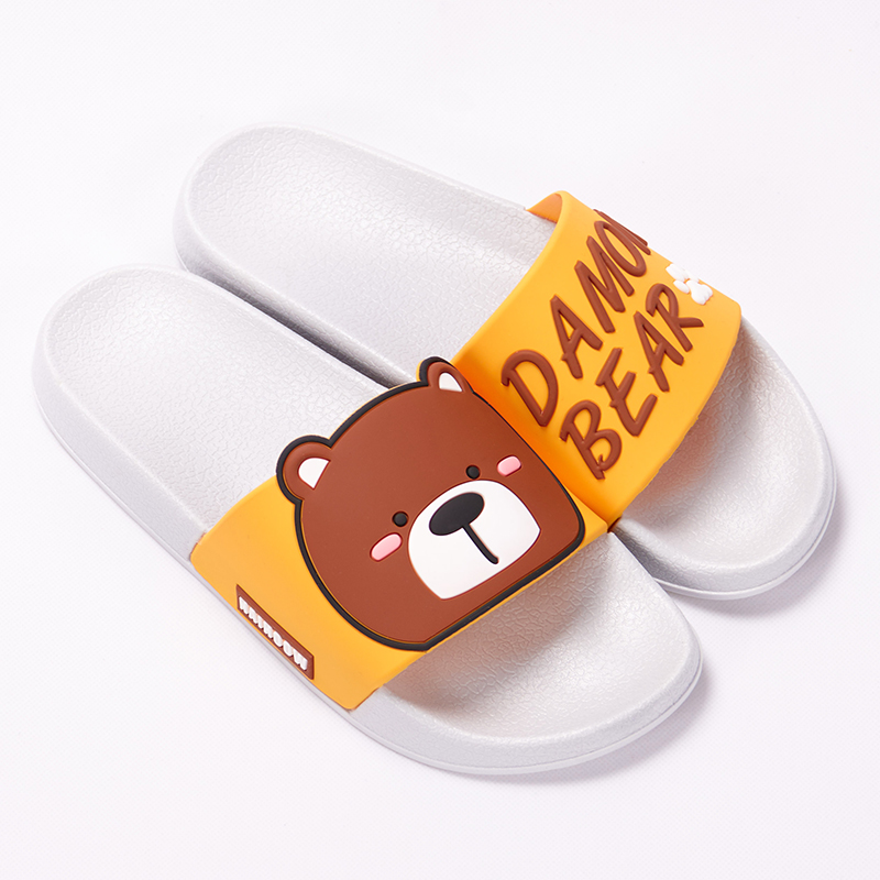 Cartoon Women Summer Slippers Cute Damon Bear Soft Sole Slides Home Slippers Indoor & Outdoor Sandals Women Shoes Flip Flops 21