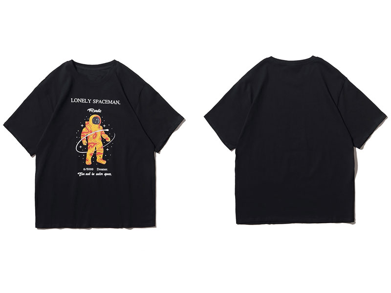 Lonely Spaceman Print Tee Shirts 1