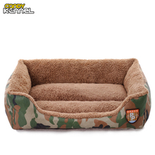 CANDY KENNEL Camouflage Washable Pet Dog Cat Bed Sofa Nest Soft PP Cotton Dog Warm Kennel Bed House Pet Mats Cushion D1055