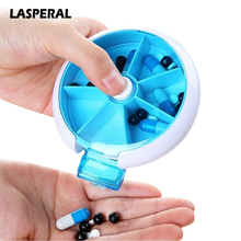 7 Grids Round Plastic Pill Storage Box Medicine Box Vitamin Portable Travel Home Organizer Box Weekly Storage Container(China)