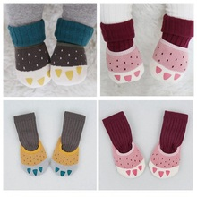 1 Pair Baby Anti-slip Boat Socks +1 Pair Tube Stocks Winter Thicken Warm Infant Socks Cartoon Claws Baby Boy Girl Cotton Sock(China)