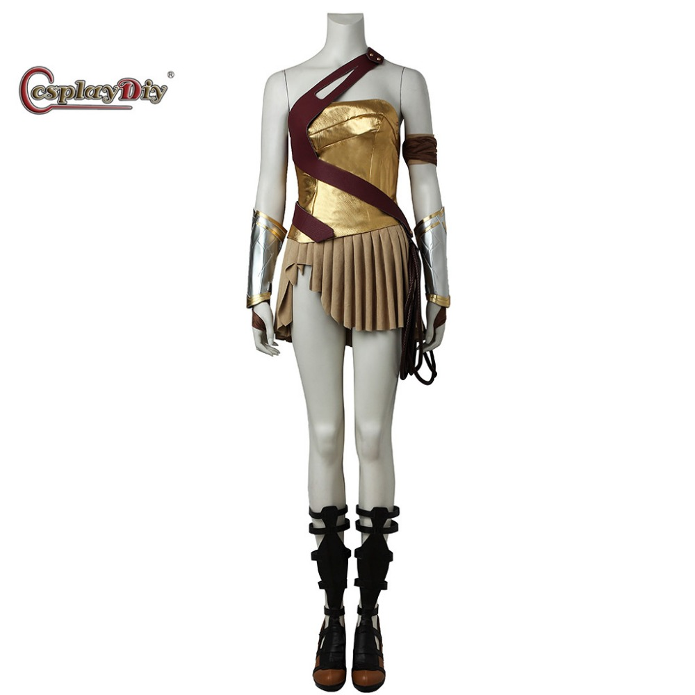 Cosplaydiy Wonder Woman Justice League part 1 Diana Prince Cosplay Costume Women Halloween Carnival Outfit Custom Made