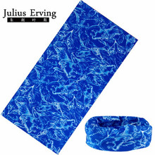 Julius Erving 2017 Biker Bandana Motorcycle Skull Head Bandana Men Tube Scarf Luxury Brand Magic Headband Kerchief