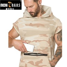 2017 Brand Mens Short Hoodies Fashion pullover leisure coat gyms Fitness bodybuilding jacket Sweatshirt male sportswear clothing(China)