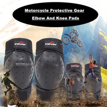 Motorcycle Riding Breathable Knee Pads Motocross Motor Racing Protective Gears warm 2 Knee 2 Elbow Guards Pads Set Outdoor(China)