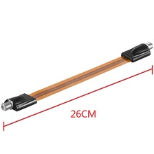 Extrem slim Flat RG6 Coaxial Cable Female F Connector Fits Under Doors Windows 26cm long(China)