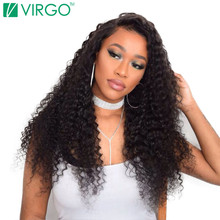 Virgo Hair Company Malaysian Deep Curly Hair Weave Human Hair Bundles 1 Pc 100% Natural Remy Hair Can Be Dyed Bleached No Tangle