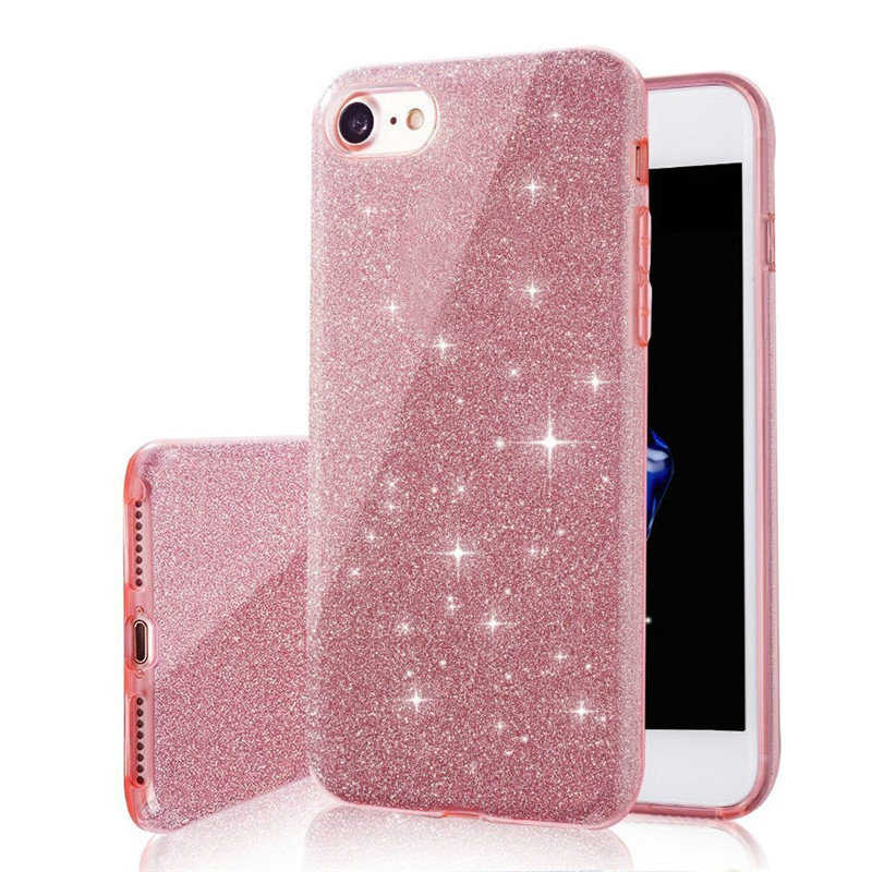 Sexy Glitter PC+TPU Case for Samsung Galaxy A10 A20 A30 A40 A50 A70 A7 A8 A6 Plus 2018 A750 Luxury 3 Layers Bling Cute Cover