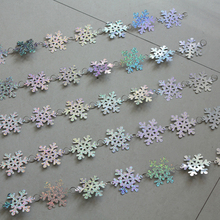 Christmas interior decoration snowflake sequins curtain Festive party decoration Christmas tree Pendant(China)