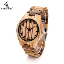 BOBO BIRD G22 Top Quality Wood Watch for Men Wristwatches Wooden Fashion Brand Designer Full Zebra Watches Carton Gift Box