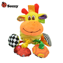 Sozzy Baby Vibrated Plush Animal Giraffe Toy Rattle 15cm Soft Crinkle Sound Stuffed Multicolor Multifunction Toy
