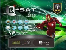 qsat q28g decoder DVB-S2+dvb-t2 receiver vs v8 combo support LAN port iptv gprs powervu wifi 3g decodificador tv digital