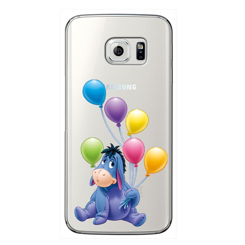 The Winnie Pooh Cartoon Naughty Lovely Eeyore soft Silicone Phone Case Cover For Samsung Galaxy A6 A7 A8 2018 PLUS J6 J8 2018