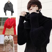 PROMOTION LOW PRICE Women's Winter Warmer Knitting Wool Long Soft Scarf Shawl Scarves with Sleeve Wrap(China)