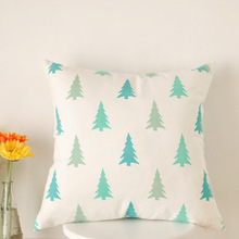 Factory wholesale new spring green forest small fresh cotton printed cushion sofa cushions covers throw pillows(China)