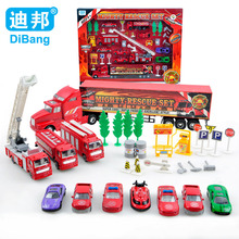 Dibang Children Alloy Model Toys DB-008990 Mighty Rescue Set Toy Engineering Car Truck Window Box Simulation Classic Toys Kids(China)