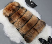 Free Shipping 2017 New Arrival Luxury Real Natural Genuine Fox Fur Vest DFP438 for Women Fashion Brand Fur Vest