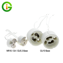 Lamp Base MR16 /G4 /GU10 /G5.3 Ceramic Socket For Halogen Light With Wire Lamp Holder 5pcs