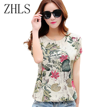 Floral Print Women's Blouses ladies Shirts Summer Tops Casual Plus Size blouse shirt fashion korean 2016 new blusas female 60571(China)