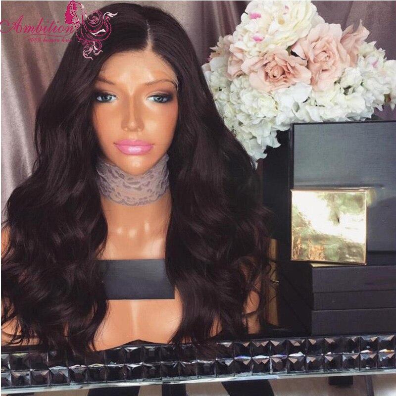 Virgin Peruvian Human Hair body wave Wigs virgin Hair Full Lace Wig black 150 Density Glueless Lace Front Wigs for black women<br><br>Aliexpress