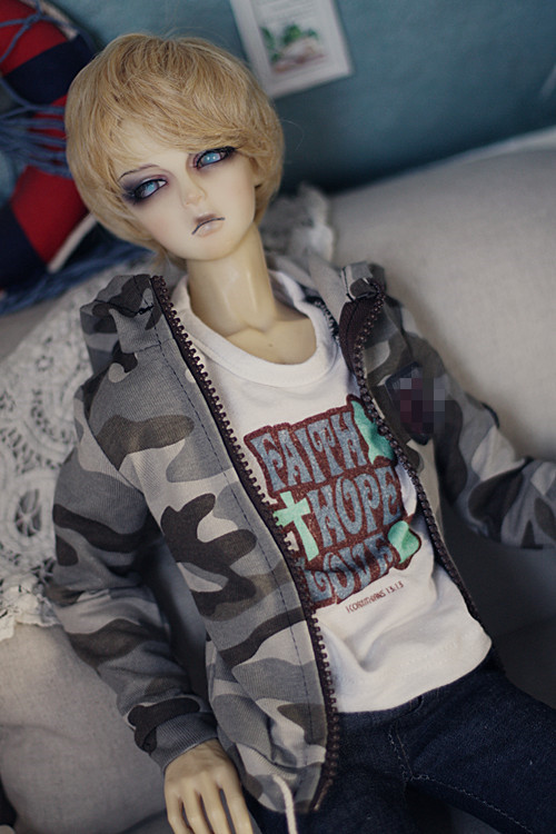 Cool Camouflage hoodie for Bjd 1/4 MSD,1/3,SD17 Uncle IP Luts DOD,SD Doll Clothes CMB87<br>