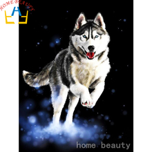 Diamond embroidery 3d full picture of rhinestones needlework with diamonds diamond paint painting animals cute husky AB355