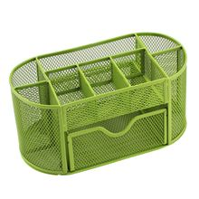 1pcs Pen Pencils Mesh Holder Stationery Container Desk Tidy Organiser Office School, Green(China)