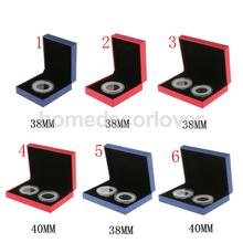 Fancy Single/ Double Coin Holder Display Case for 38MM/40MM Commemorative Coins Collectors Gift Box