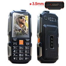 L18 shockproof 3.5mm earphone jack power bank flashlight SOS speed dial wireless FM radio rugged senior mobile phone P033(China)