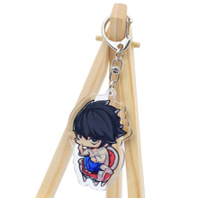 Death Note Keychain L Ryuuku  Double Sided Key Chain 4 Styles Hot Sale Custom made Anime Key Ring  DSK01