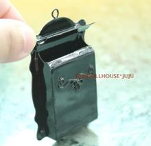 MINI  doll house Clay scene hung with black mailbox door model