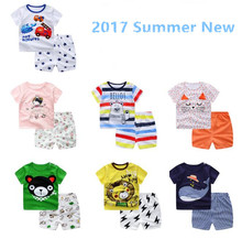 2017 New Summer Baby Clothing Sets Cotton Toddler 2pcs Shorts Suit Children's Outfit 0-4 Years Boys Girls Clothes