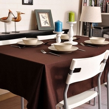 Pure Cotton Solid Color Thicker Table Cloth Fresh Dinner Table Cloth Antependium Cloth Tea Tablecloth Christmas Table Cloth