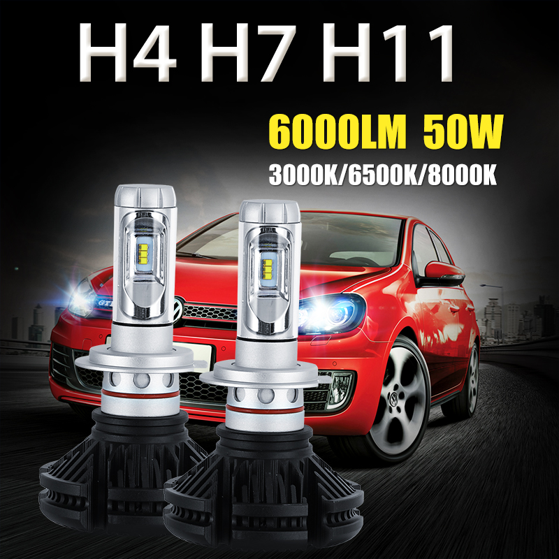 Oslamp H4 H7 H11 50W 6000LM LED Car Headlight Bulb 3000K/6500K/8000K CSP CREE Chips Led Auto Headlamp Fog Light Bulbs DC12v 24v<br><br>Aliexpress