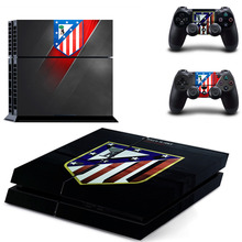 Spanish football team La Liga Club Atletico de Madrid PS4 Skin Sticker Decal For Sony PS4 PlayStation 4 Console and 2 Controller