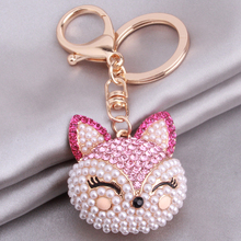 1pc Fox Key Chains Bag Hanging Key Ring Zinc Alloy Golden Plated Keychains New Style Jewelry For Bags Phone Decoration 364502