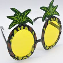 12 Pcs Creative Cartoon Sand Beach Style Pineapple Glasses Picture Props Costumes Ball Party Child Toys Atmosphere Decoration