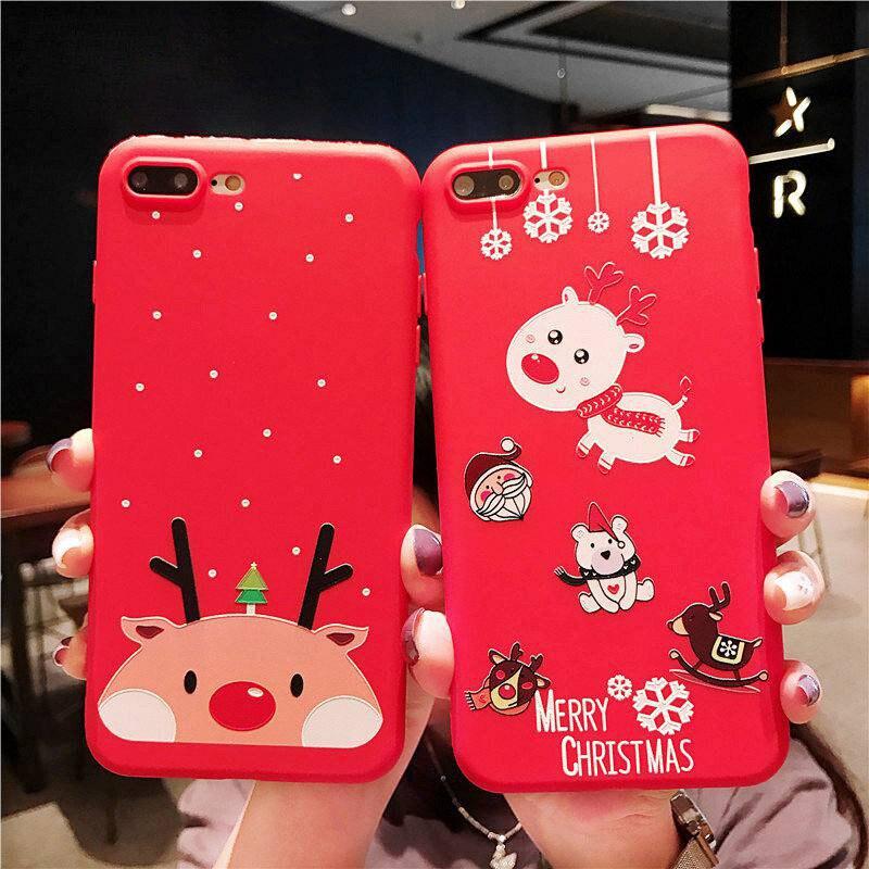 KISSCASE-Christmas-Phone-Case-For-iPhone-XR-XS-7-8-Lovely-Cartoon-Santa-Claus-Elk-Soft(5)